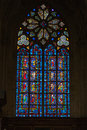 Stained glass windows of Saint Gatien cathedral in Tours Stock Images