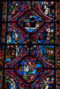 Stained glass windows of saint gatien cathedral in tours france Stock Image