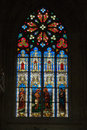 Stained glass windows of saint gatien cathedral in tours france Stock Photography
