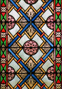 Stained glass, Zagreb cathedral Royalty Free Stock Photo