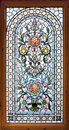 Stained lead window Royalty Free Stock Images