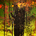 Stained rusty colorful metal. Royalty Free Stock Photo