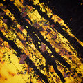 Stained yellow iron texture. Stock Photography