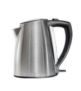 Stainless electric kettle isolated over white on Royalty Free Stock Image