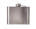 Stainless hip flask Royalty Free Stock Photos