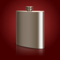 Stainless hip flask vector illustration Royalty Free Stock Image