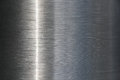 Stainless Steel background with a streak of light Royalty Free Stock Photo