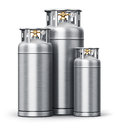 Stainless steel high pressure industrial containers Royalty Free Stock Photo