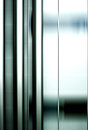 Stainless steel pipes abstract the photograph of on a metal facade Stock Photography
