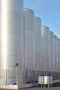 Stainless steel tanks Royalty Free Stock Photo