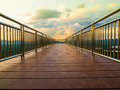 Stainless steel walk way Royalty Free Stock Photo