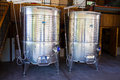 Stainless Steel Wine Tanks Royalty Free Stock Photo