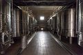 Stainless Steel Wine Tanks Mendoza Argentina Royalty Free Stock Photo