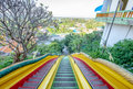 Stair down long distance colorful in wat tham sua Royalty Free Stock Photo