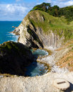 Stair Hole next to Lulworth Cove Dorset England Stock Image