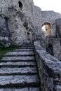 Stair inside medieval castle Spissky Hrad in Slovakia