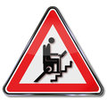 Stair lift for pensioners attention and climbing stairs Royalty Free Stock Photo