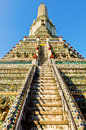 Stair of pagoda in the temple in Thailand Stock Image
