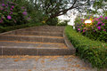 Stair in park landscaped bangkok Stock Photo