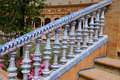Stair railing on the palace on plaza de espana in seville andalusia the most famous landmark in the city it was built in for the Stock Image