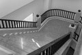 Stair step and bannister interior design of Stock Images