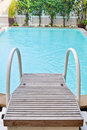 Stair in Swimming pool Royalty Free Stock Images