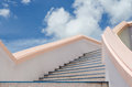 Stair to blue sky. Stock Photos