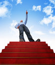 Stair to success Stock Images