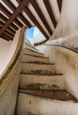 Stair to view tower in khao wang Stock Image