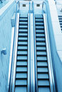 Staircase in an airport Stock Photography