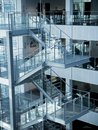 Staircase, architecture detail of modern business office Royalty Free Stock Photo