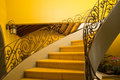 Staircase classic colonial from a low angle position Royalty Free Stock Photo