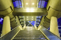 Staircase and entrance of beatrixkwartier tram office district buildings with the modern design the station the hague Stock Images