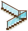 A staircase illustration of on white background Stock Photography