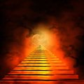 Staircase leading to heaven or hell Royalty Free Stock Photography
