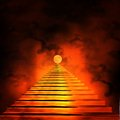 Staircase leading to heaven or hell Stock Photos