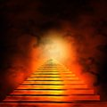 Staircase leading to heaven or hell Royalty Free Stock Photo