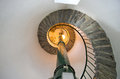 Staircase in lighthouse spiral circle stairs Stock Photography