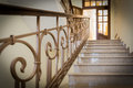 Staircase old styled marble with handrails in a hotel Royalty Free Stock Photos