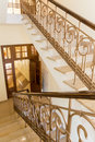 Staircase old styled marble with handrails in a hotel Stock Photos