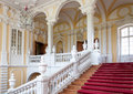 Staircase in palace rundale latvia a unique treasury of baroque and rococo art Stock Image