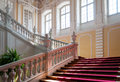 Staircase in rundale palace in latvia a unique treasury of baroque and rococo art Stock Image