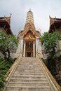 Staircase to beautiful shrine pagoda wat chakkawat rachawat bangkok thailand Stock Photos