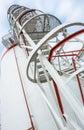 Staircase to big oil tank Royalty Free Stock Photo