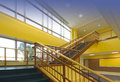 Staircase in yellow Royalty Free Stock Photo