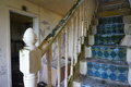 Stairs abandoned old house Royalty Free Stock Photo