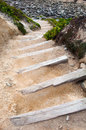 Stairs in the beach down to Stock Images