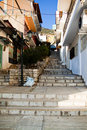 Stairs in delphi between streets greece Stock Photography