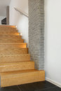Stairs design architecture of special wooden staircase in house Royalty Free Stock Photo