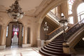 Stairs detail in old history Casino building Royalty Free Stock Photo